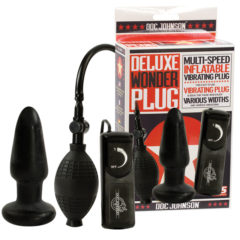 Doc Johnson Deluxe Wonder Plug – Inflatable Vibrating Butt Plug