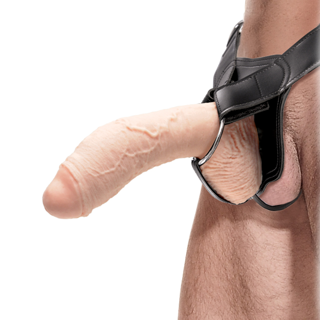 Hollow strap on gay porn black