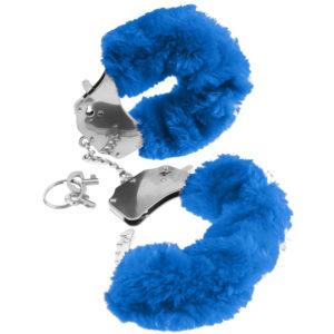 Pipedream Fetish Fantasy Series Original Furry Cuffs PD3804-14 Blue