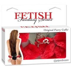 Pipedream Fetish Fantasy Series Original Furry Cuffs PD3804-15 Red