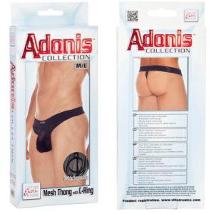 California Exotic Adonis™ Mesh Thong with C-Ring – M/L
