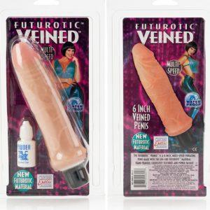 California Exotic Futurotic Realistic Veined Vibrating Dong 5.5″