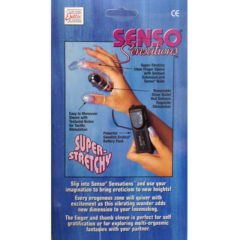 California Exotic Senso Sensation Texture Finger Thumb Vibrating Sleeves