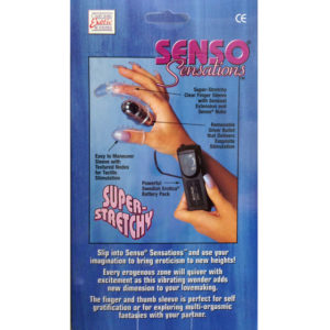 California Exotic Senso Sensation Texture Finger Thumb Vibrating Sleeves