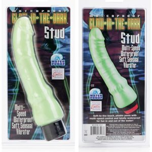 California Exotic Waterproof Glow in The Dark Stud Dildo Vibrator