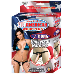 Nasstoys Real Skin All American Whoppers 7″ Dong with Universal Harness – Flesh