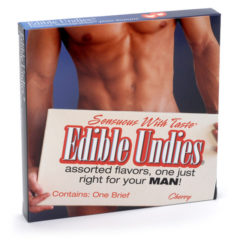 Sensuous with Taste Edible Undies for Man Cherry Flavor