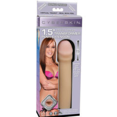 Topco Cyberskin 1.5″ inches Extra Thick Transformer Penis Extension Light