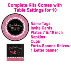 Pipedream Bachelorette Party Kit 10 Spot Setting