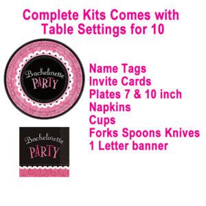 Pipedream Bachelorette Party Kit 10 Spot Setting