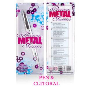 California Exotic Precious Metal Jewels Scribbler Discreet Clitoral Vibrator