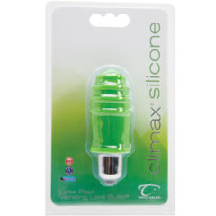 Topco Sales Climax® Silicone Vibrating Bullet, Lime Pop