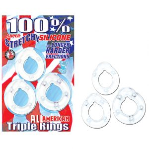 Nasstoys Super Strechy Silicone Triple Cockrings Clear
