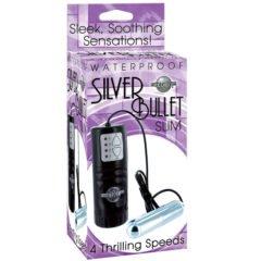 Pipedream Waterproof Silver Bullet Slim 4 Speed Vibrating Bullet