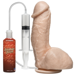 Doc Johnson The Amazing Squirting Realistic® Cock – White