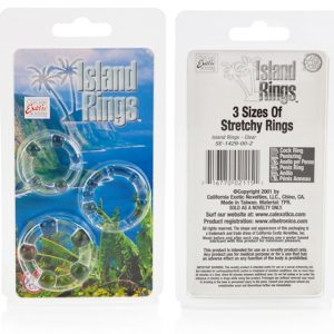 California Exotic Island Cock or Penis Rings Clear