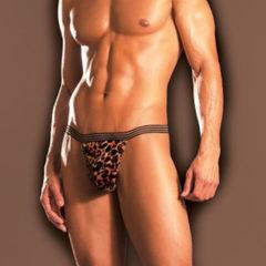Fantasy Lingerie Excite Jaguar Print Posing Mens Thong