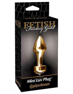 Pipedream Fetish Fantasy Gold Mini Luv Plug PD3986-27 Gold