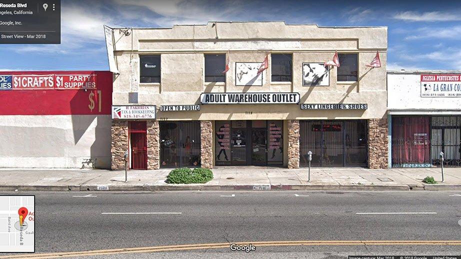 Adult Warehouse Outlet Reseda Front Entrances