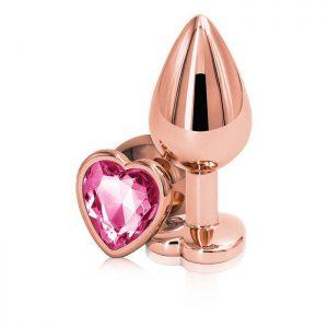 Rear Assets - Rose Gold Heart - Medium - Pink